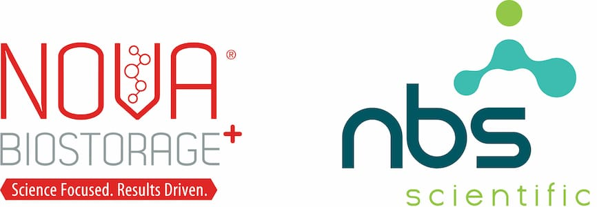 Our old Nova Biostorage+ logo and our new NBS Scientific logo