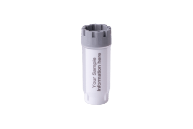 A single 2.00ml externally threaded hybrid tube with a grey screw cap and blank, white space for own ID