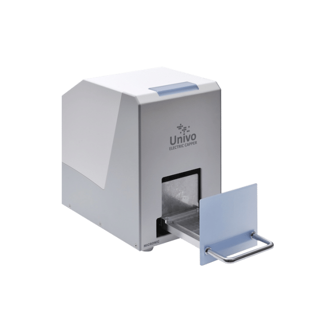 The Univo electric capper CP860 with front tray pulled out