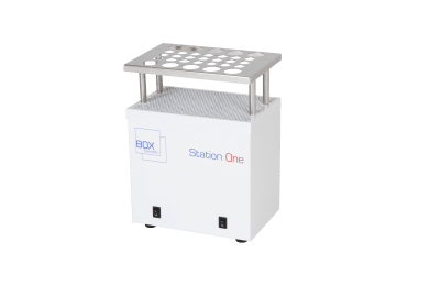 An empty station one rack thawing unit by Box Scientific