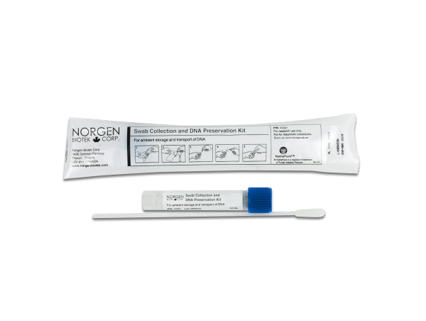 A swab collection and DNA preservation kit by Norgen Biotek