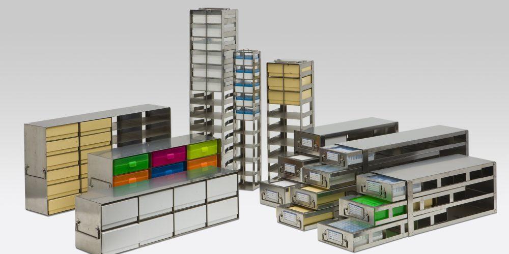 NBS Scientific's wide range of freezer racks