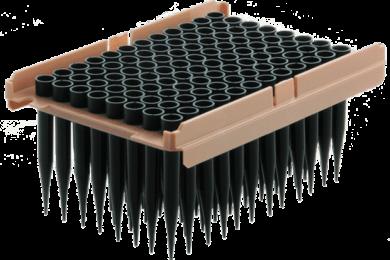 Ritter Medical Qiagen blackKnights robotic pipette tips in rack
