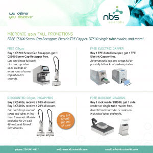 Micronic fall promotions for lab essentials